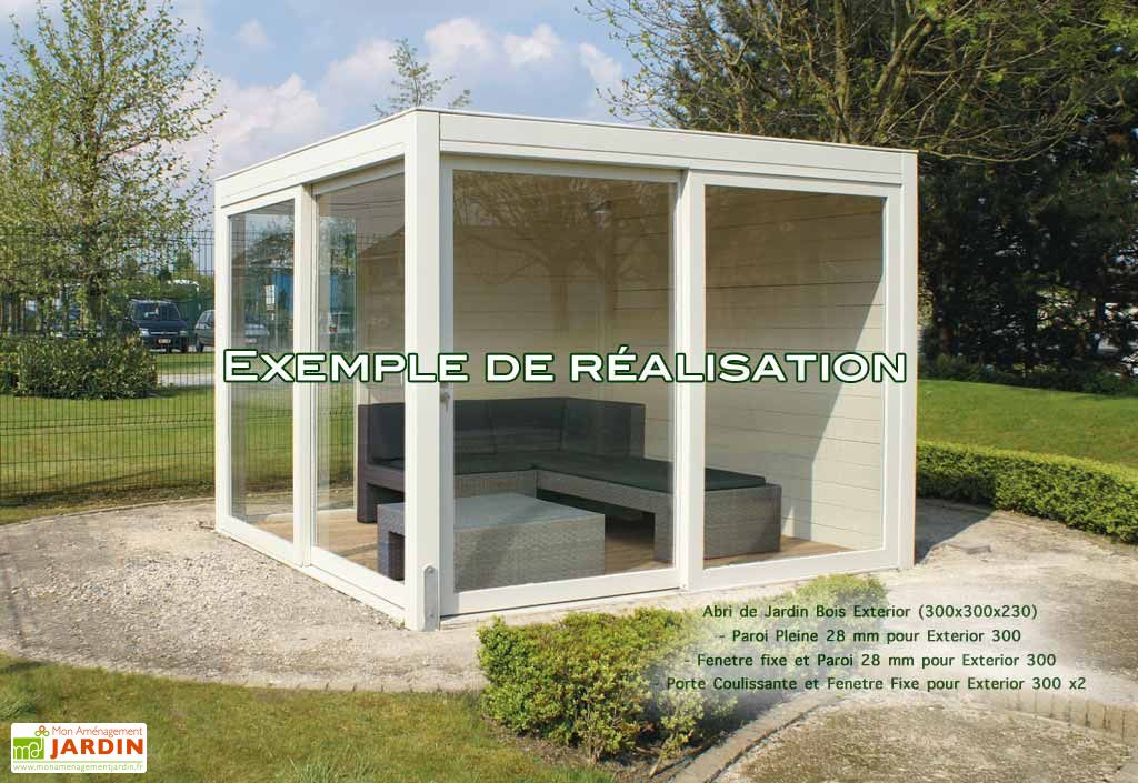 Abri de Jardin Bois Exterior (300x300x230)