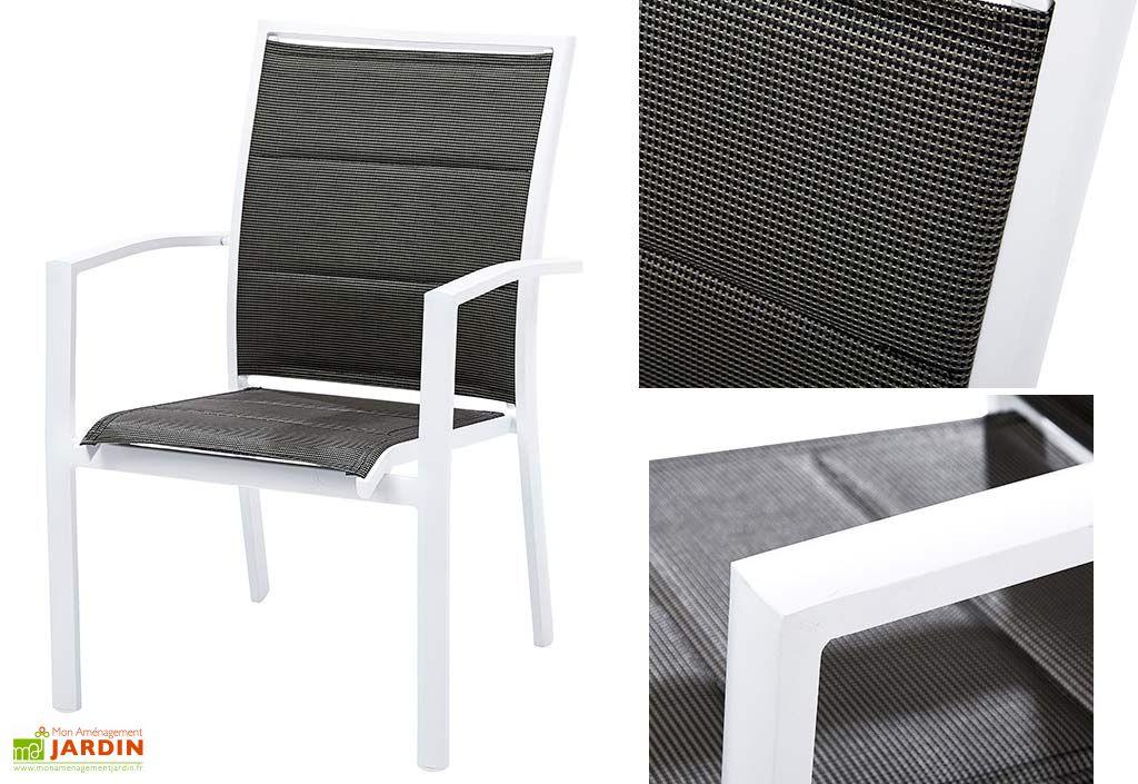 Salon de Jardin Modulo : Table Extensible en Polywood + 6 Fauteuils