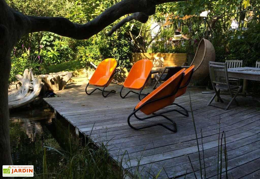 Fauteuil de jardin original taboo en acier color haemmerlin for Mobilier de jardin colore