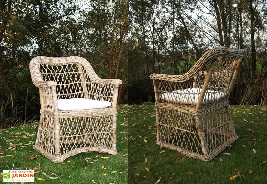 fauteuil de jardin en rotin avec coussin kelly lot de 6 fauteuil de jardin en rotin avec. Black Bedroom Furniture Sets. Home Design Ideas