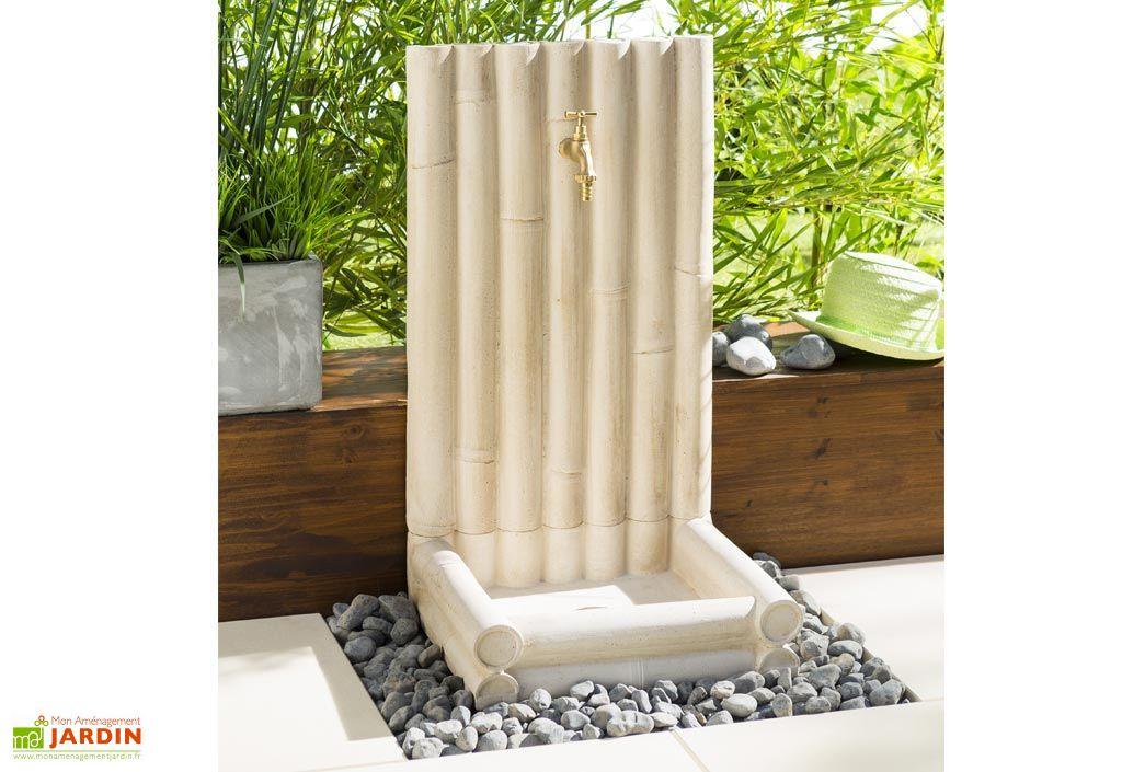 Fontaine de jardin Bambou en Béton