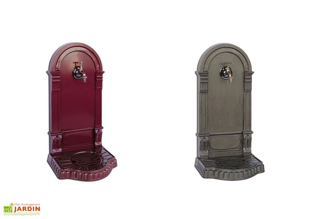 fontaine jardin en fonte 75 cm avec robinet laiton eva pls coloris delta. Black Bedroom Furniture Sets. Home Design Ideas