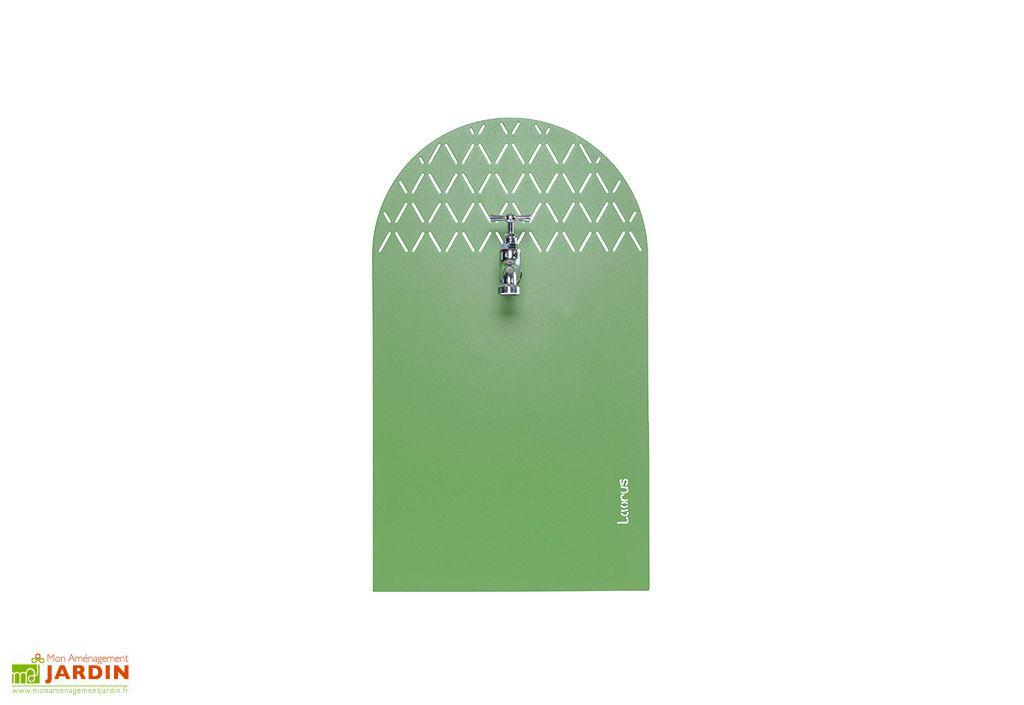 fontaine de jardin en acier galvanisé verte