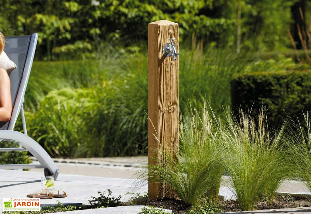 Fontaine De Jardin En Polyethylene 100 Cm Wood Imitation Bois