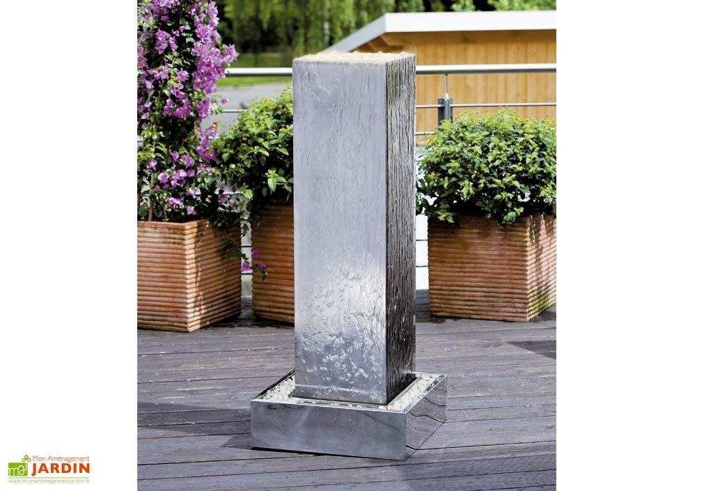 Fontaine Jardin Inox Kubus