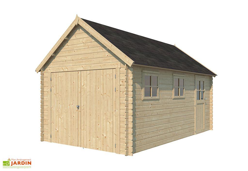 Garage en Bois d'Épicéa avec Toit en Shingle Gardenas Gloucester 17 m²