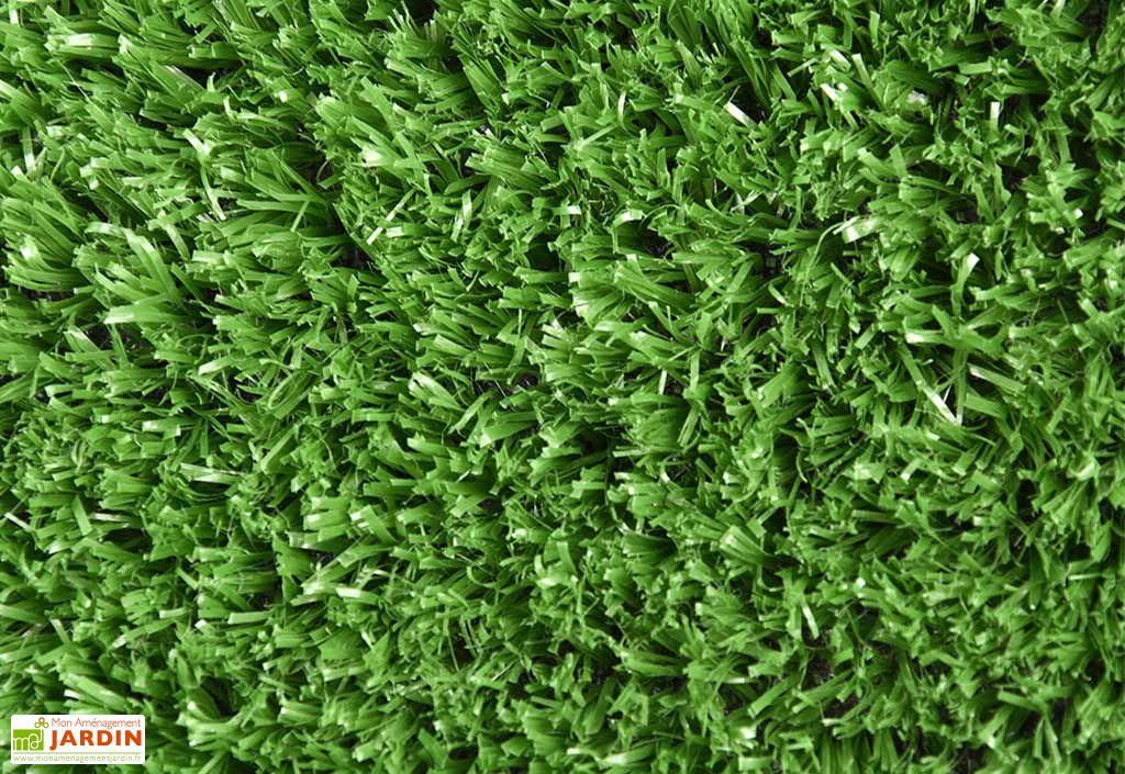 Pelouse artificielle verte en polypropylène
