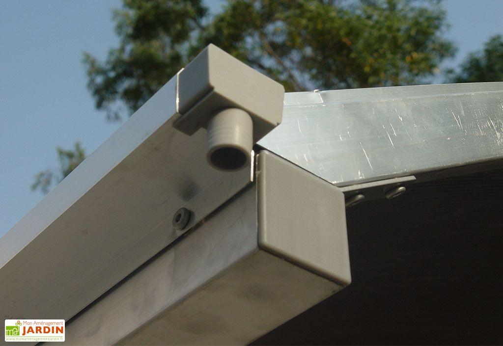 Carport Design en Aluminium à 2 Pentes en Polycarbonate 300x500x275