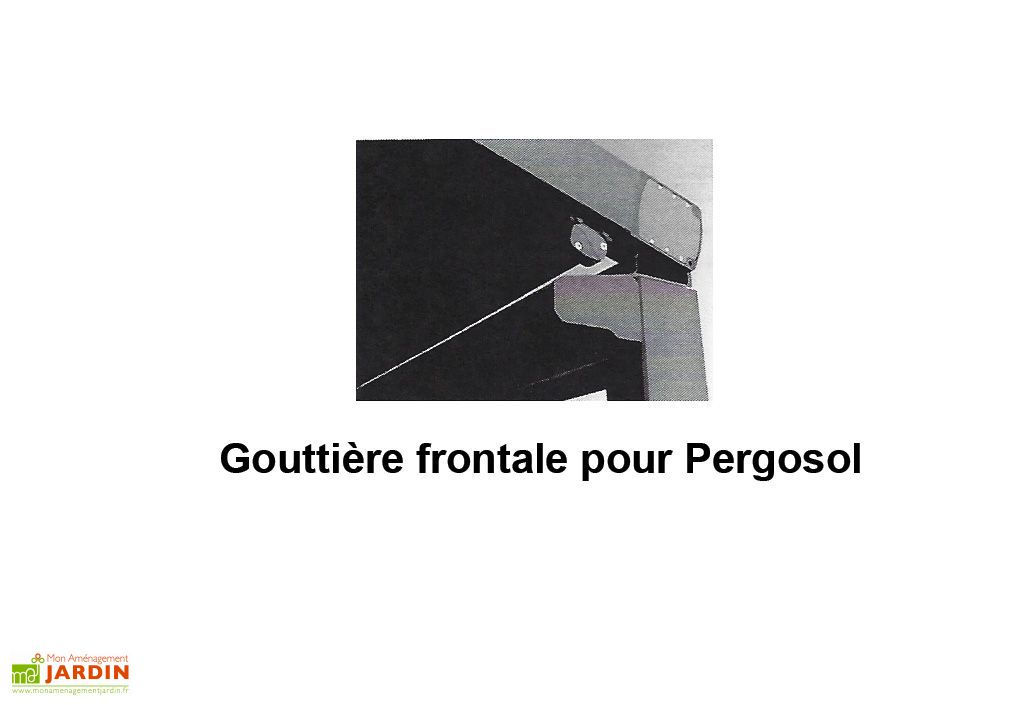 Gouttière Frontale pour Pergola Pergosol