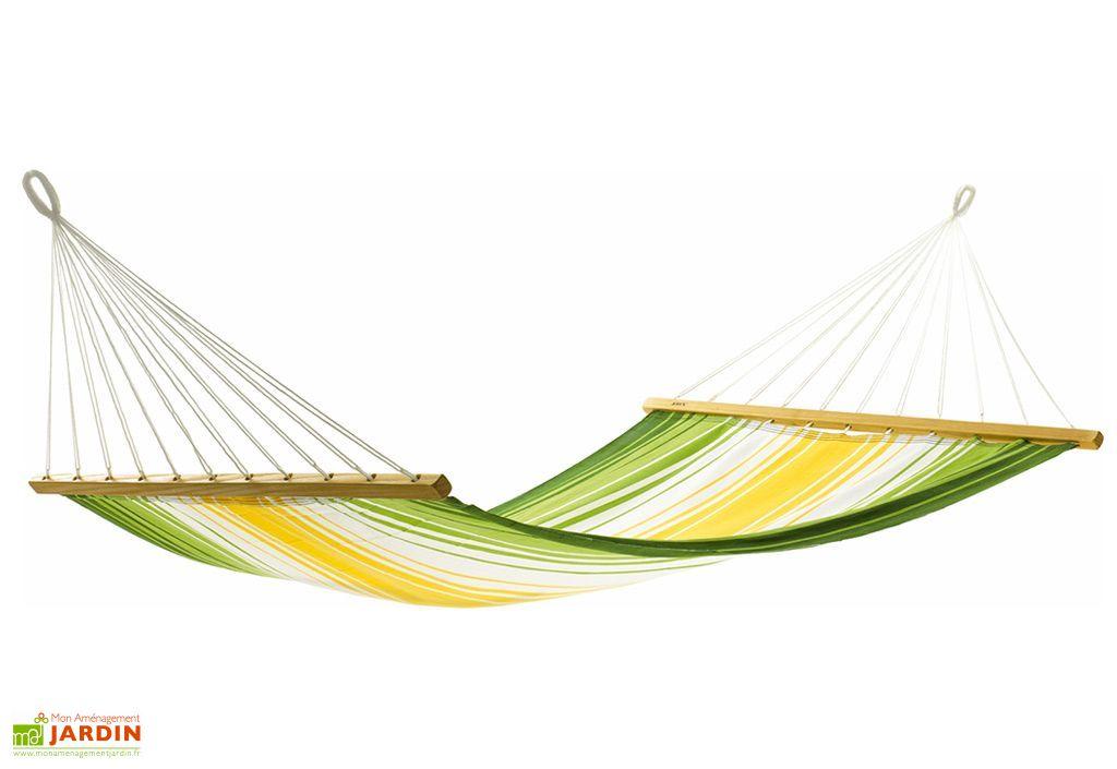 Hamac Aruba Jaune Vert Ecru 200x140cm