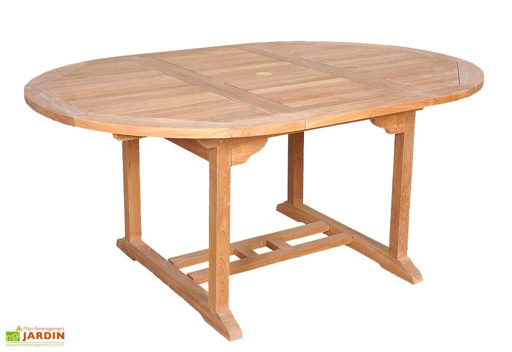 Table Jardin Teck Ronde Prétoria - Table Prétoria 6 couverts - Residence