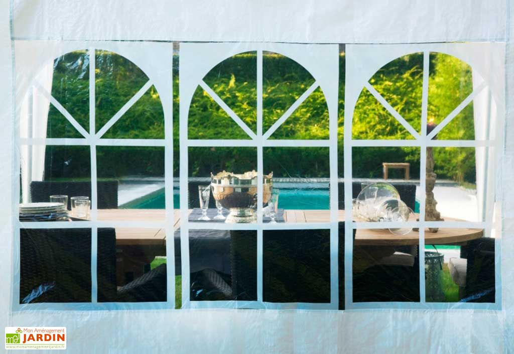 Tente de reception 3x6 m tente de r ception 3x6 mon jardin for Piscine 3x6 prix
