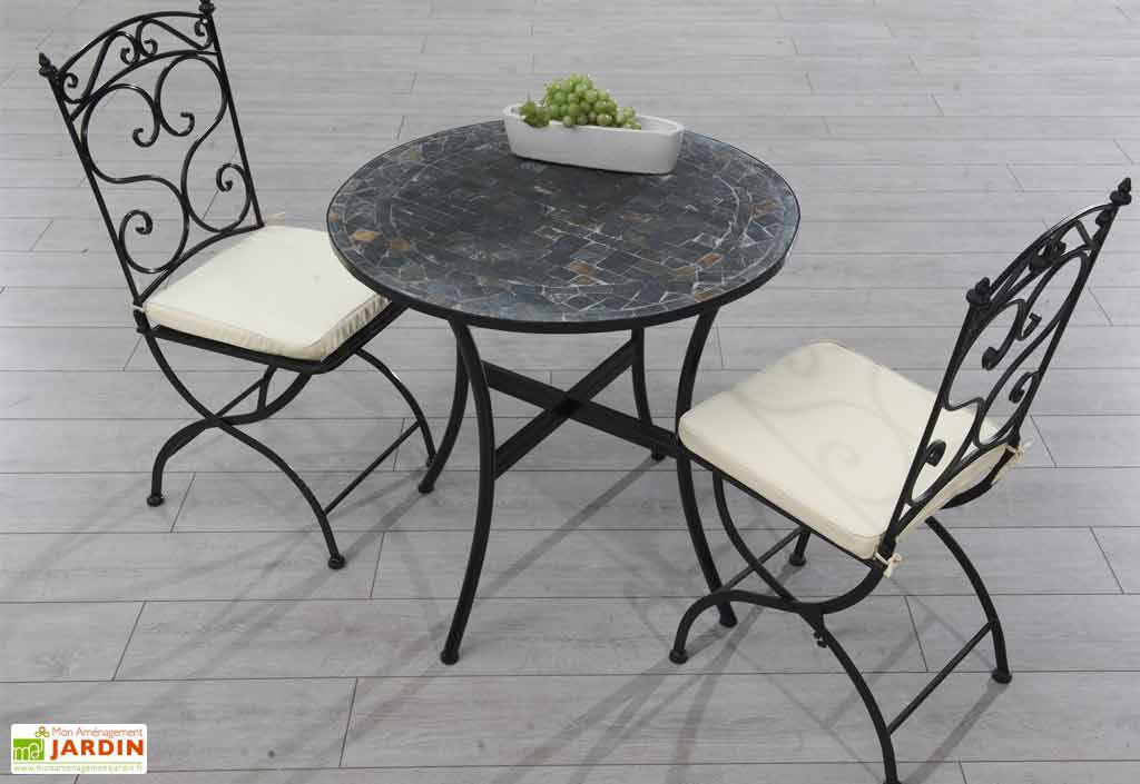 Table Guéridon de Jardin Mosaïque Stone (Ø76)