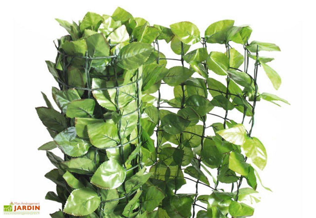 haie artificielle plastique made in france imitation rosier vert grillage