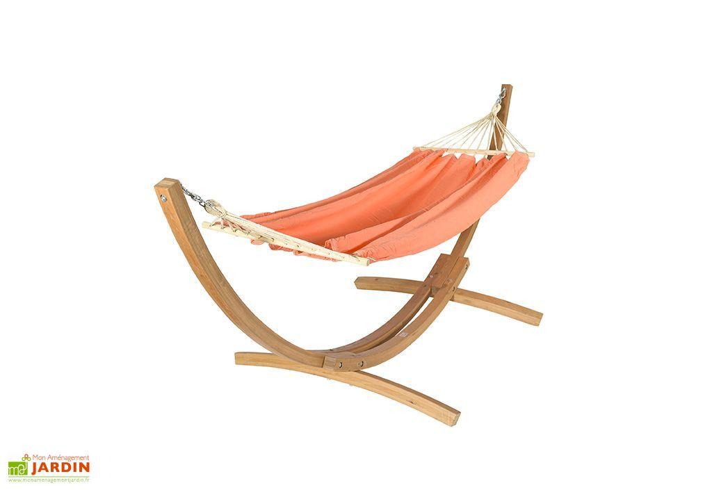 set hamac avec support en bois mandarine hamac avec support en bois mandarine jobek. Black Bedroom Furniture Sets. Home Design Ideas