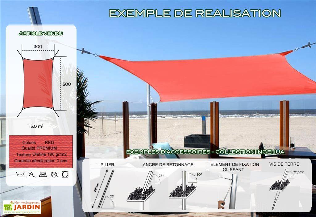 Voile d'Ombrage Ingenua 3x5 Premium Red