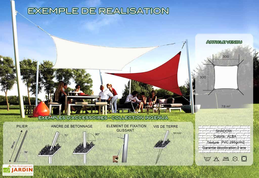 Voile d'Ombrage Ingenua 3x3 Shadow Alba