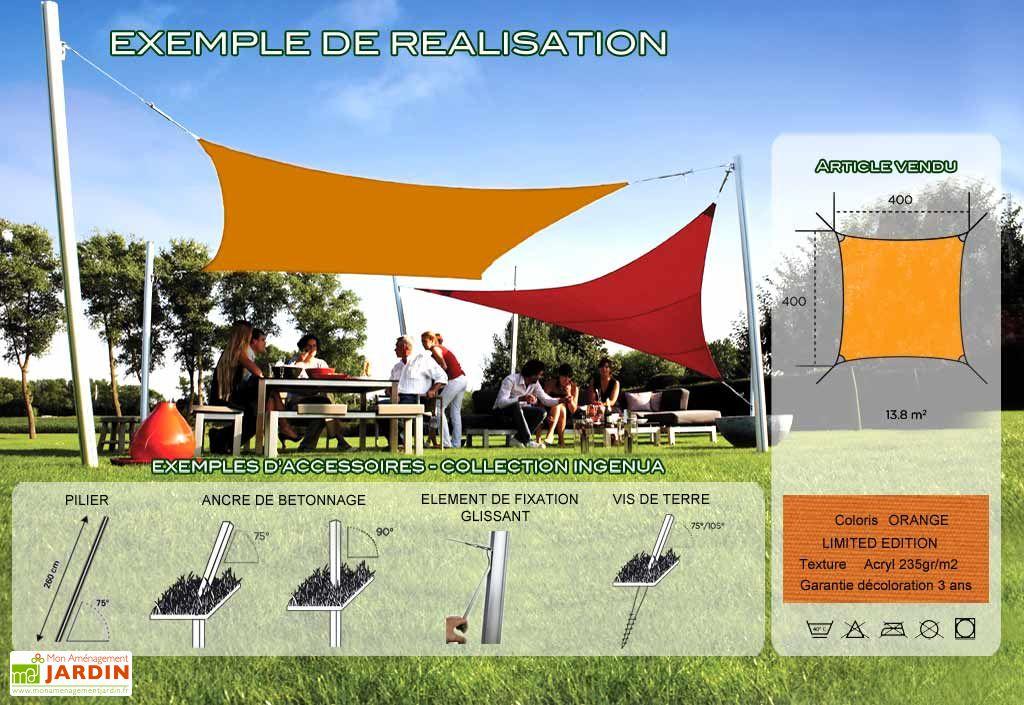 Voile d'Ombrage Ingenua 4x4 Limited Orange