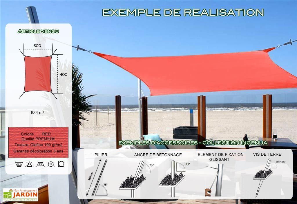 Voile d'Ombrage Ingenua 3x4 Premium Red