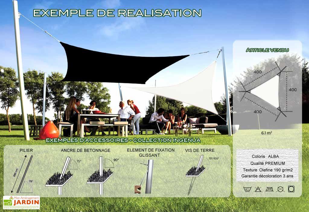 Voile d'Ombrage Ingenua 4x4x4 Premium Alba