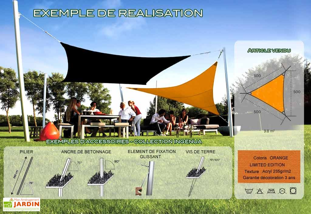 Voile d'Ombrage Ingenua 5x5x5 Limited Orange