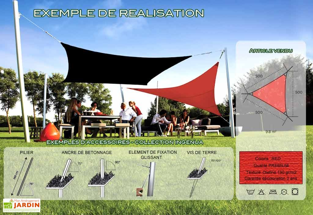 Voile d'Ombrage Ingenua 5x5x5 Premium