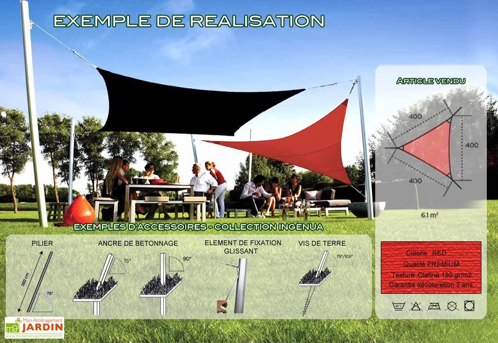 Voile d'Ombrage Ingenua 4x4x4 Premium Red