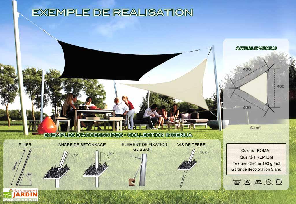 Voile d'Ombrage Ingenua 4x4x4 Premium