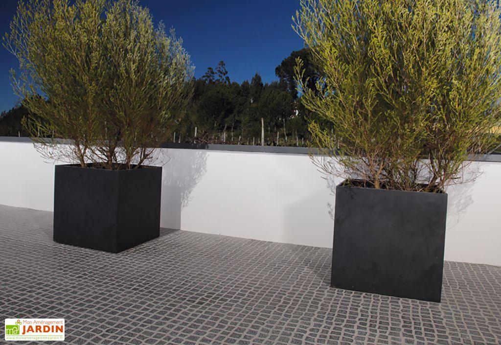 jardini re en b ton fibr kube 60 60x60 blive. Black Bedroom Furniture Sets. Home Design Ideas