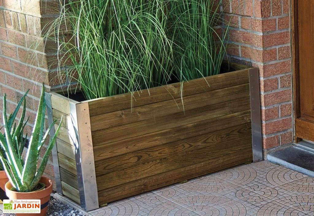 jardini re bois jardini re pvc bac fleurs mon. Black Bedroom Furniture Sets. Home Design Ideas