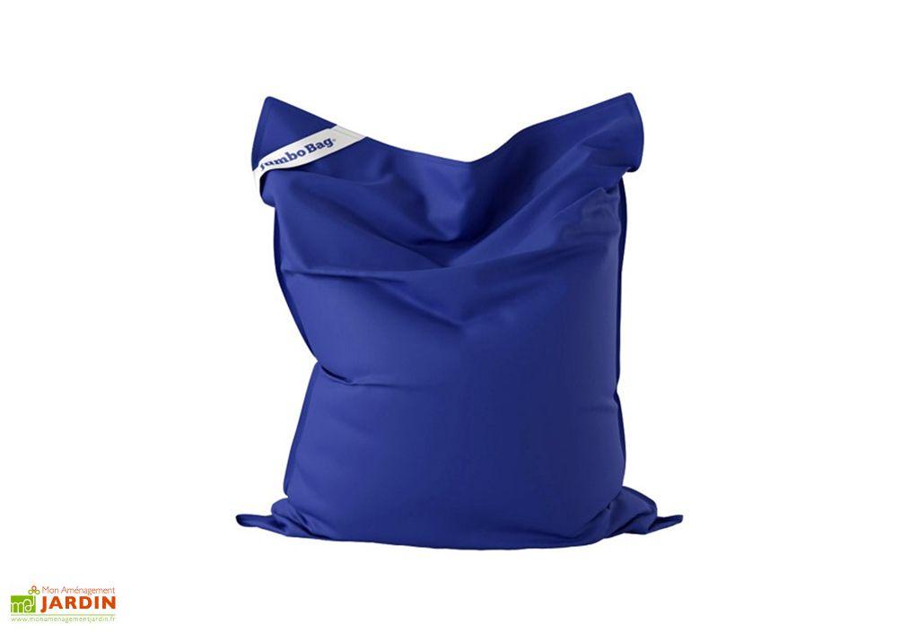 Jumbo bag Original pouf géant extérieur bleu