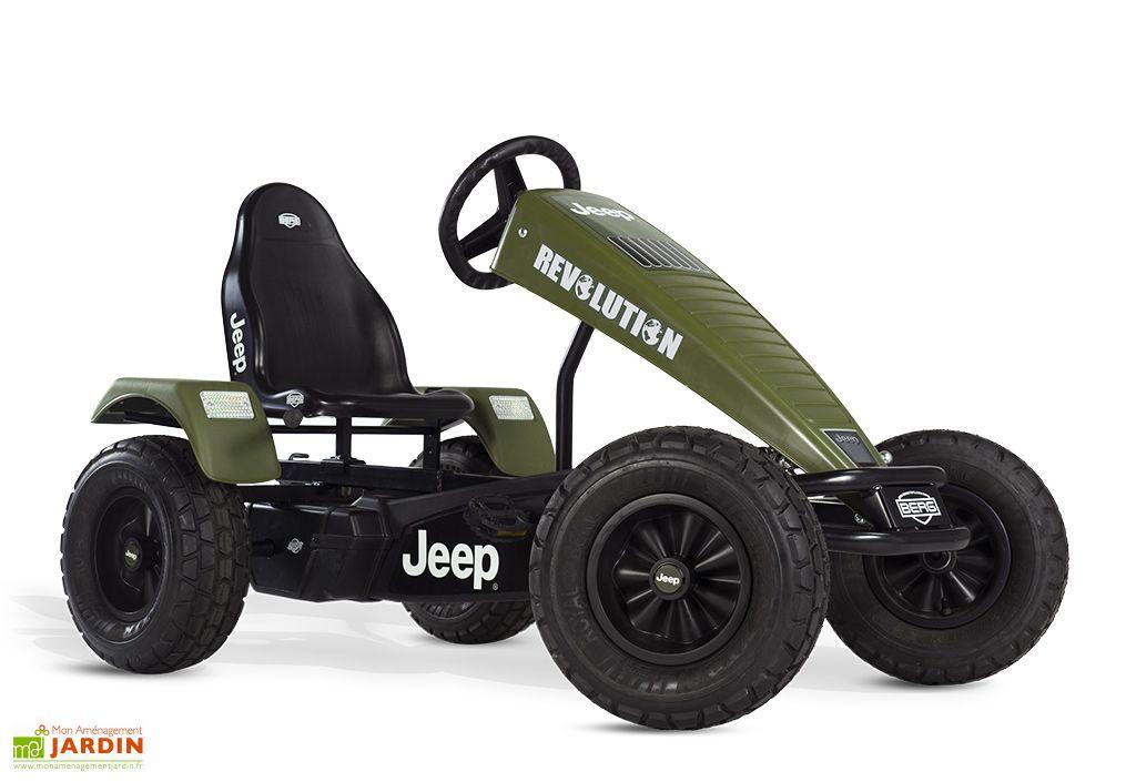 Kart à Pédales Berg Jeep Revolution BFR Vert Profil