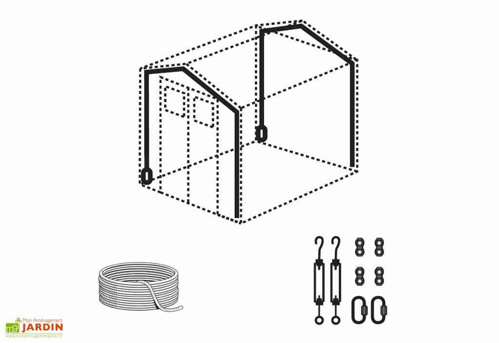 Kit d'Ancrage pour Abri PVC Grosfillex