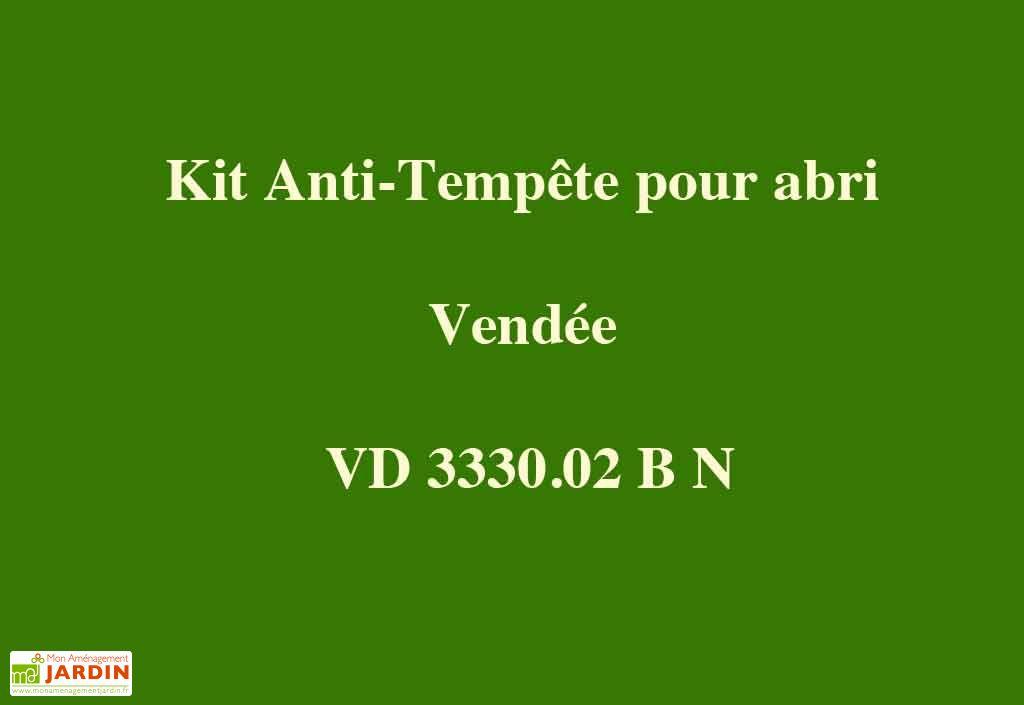 Kit Anti-Tempête pour Abri Vendée 330x300x220