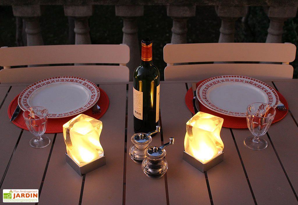 Lampes de Table Multicolores Autonomes Tornade - Lot de 2