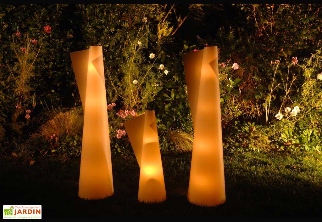 Lanterne de Jardin Cône L Blanc 200x650 mm