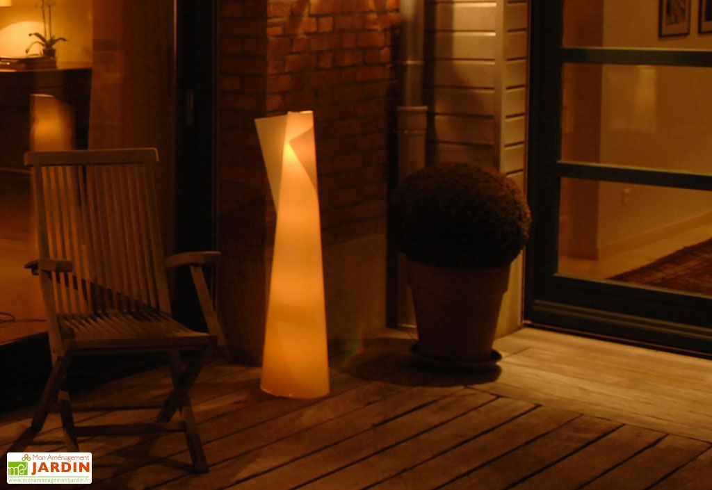 lanterne de jardin c ne xl blanc 270x1100 mm arteflex. Black Bedroom Furniture Sets. Home Design Ideas