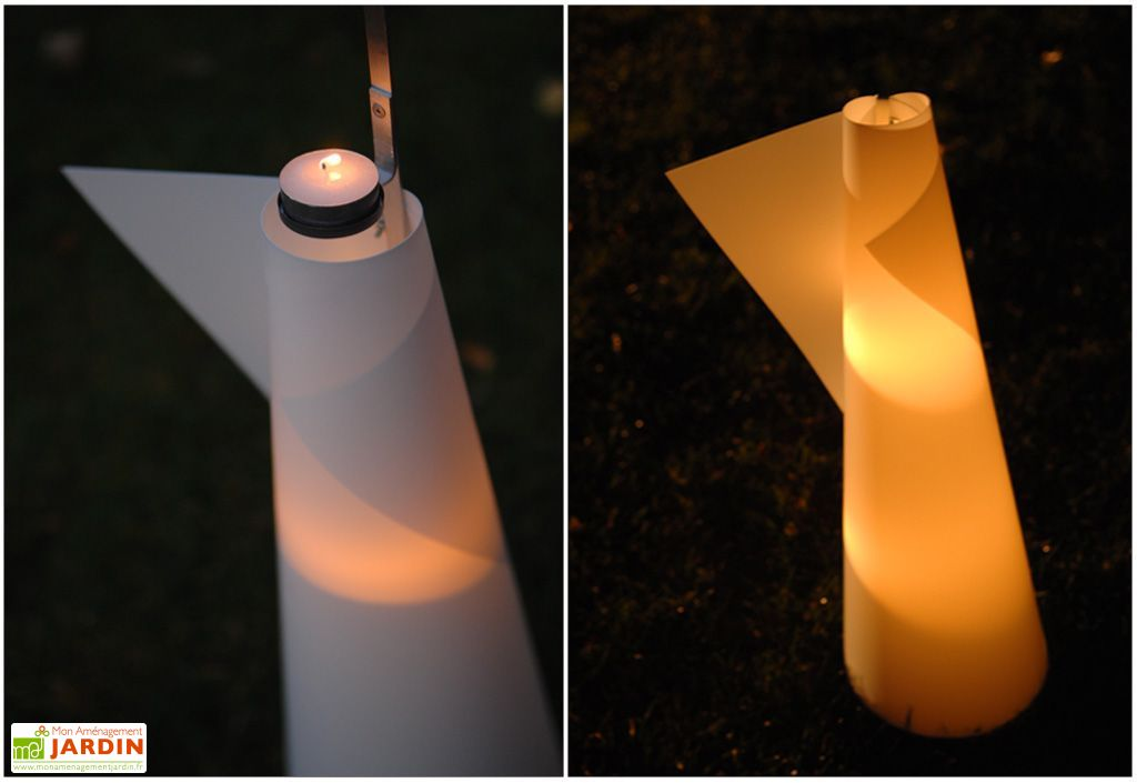 Lanterne de Jardin Cône XL Blanc 270x1100 mm