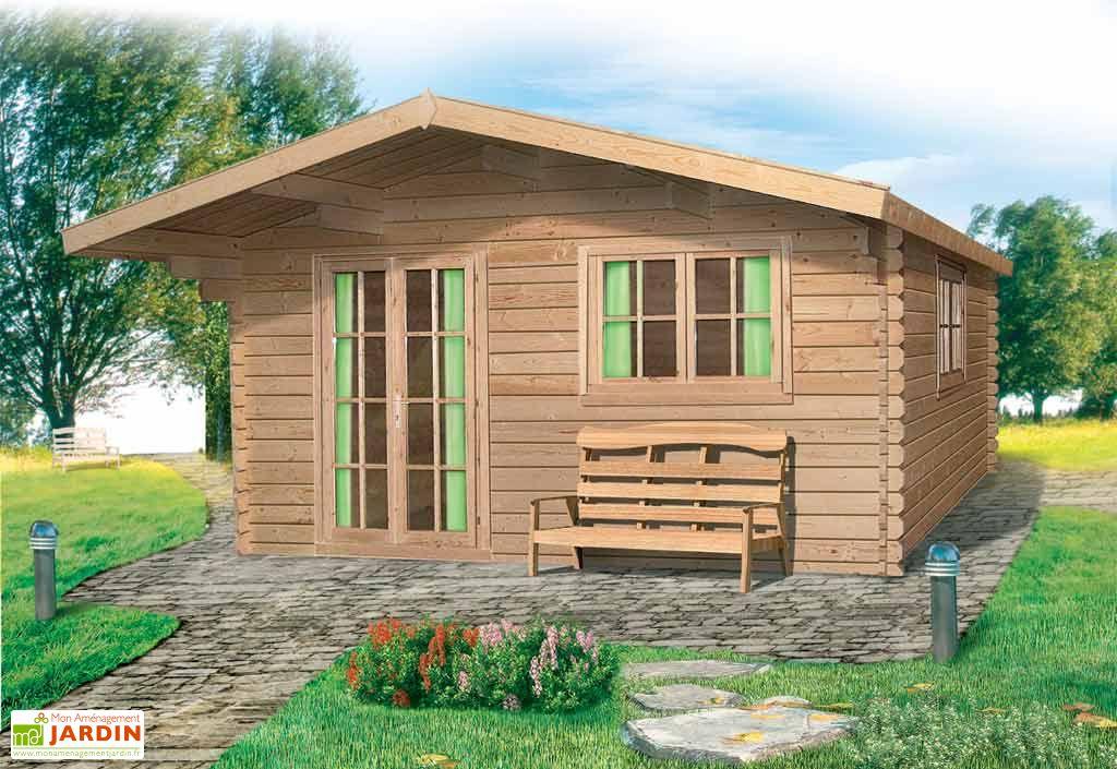 Abri de Jardin Bois Liverpool (499x399x270) 44 mm