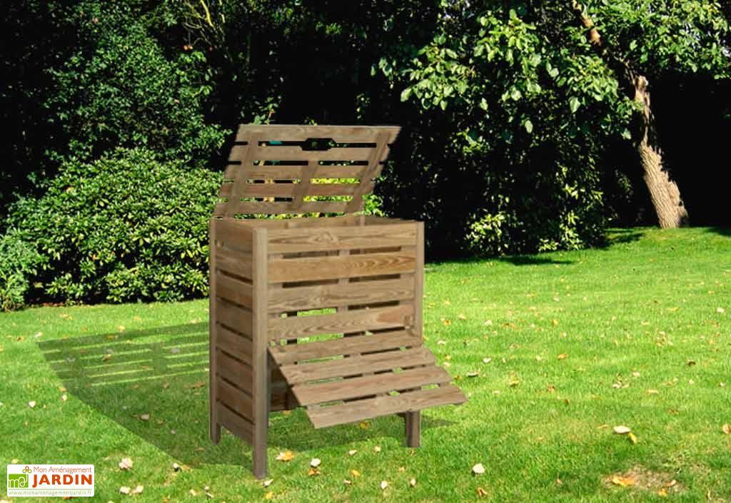 bac compost 400 l composteur 400 litres jardipolys. Black Bedroom Furniture Sets. Home Design Ideas