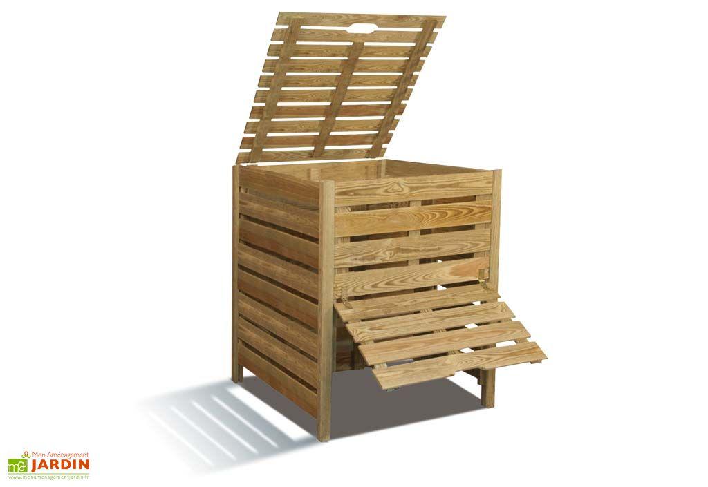 bac compost 800 l composteur 800 litres jardipolys. Black Bedroom Furniture Sets. Home Design Ideas