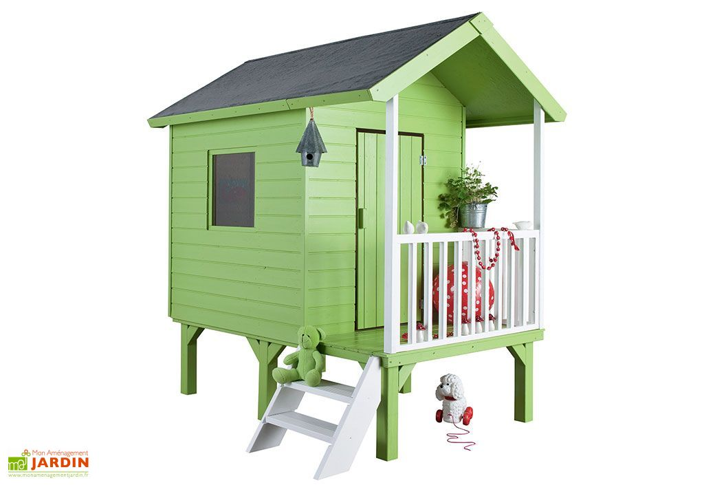 8b78a9b024e3a Maison pour Enfant Bois Kangourou Sur Pilotis - Jardipolys