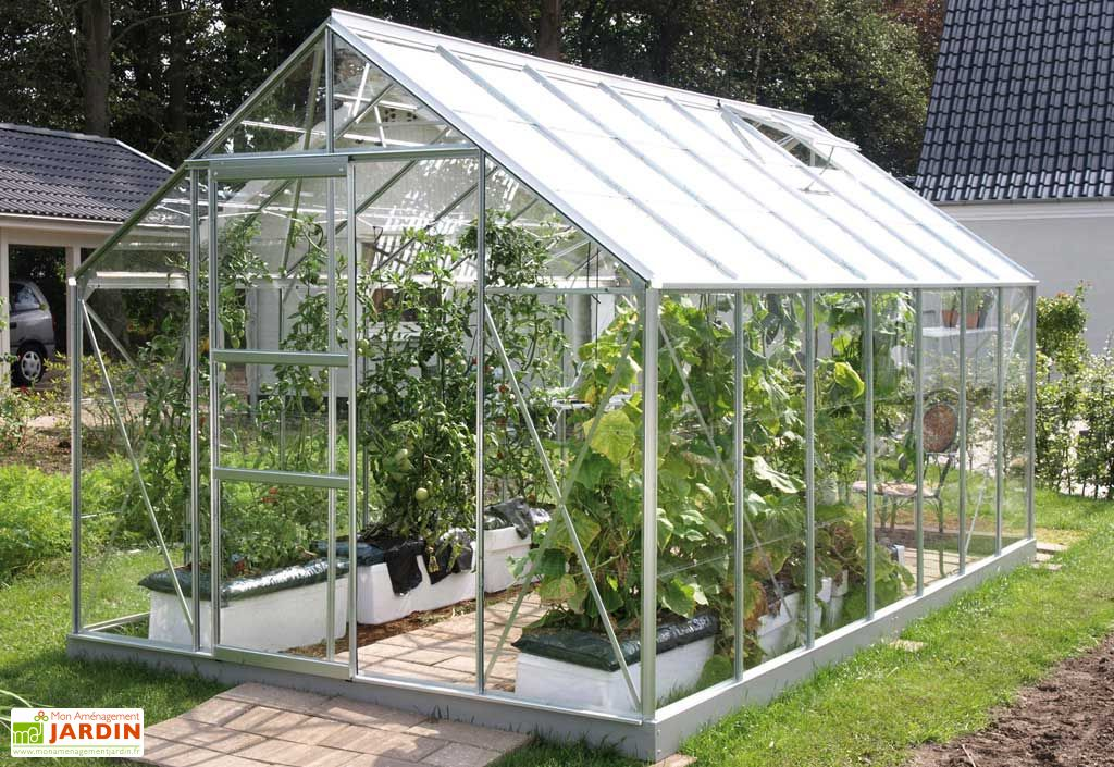 Serre de jardin en verre MERKUR 9900 Myosotis