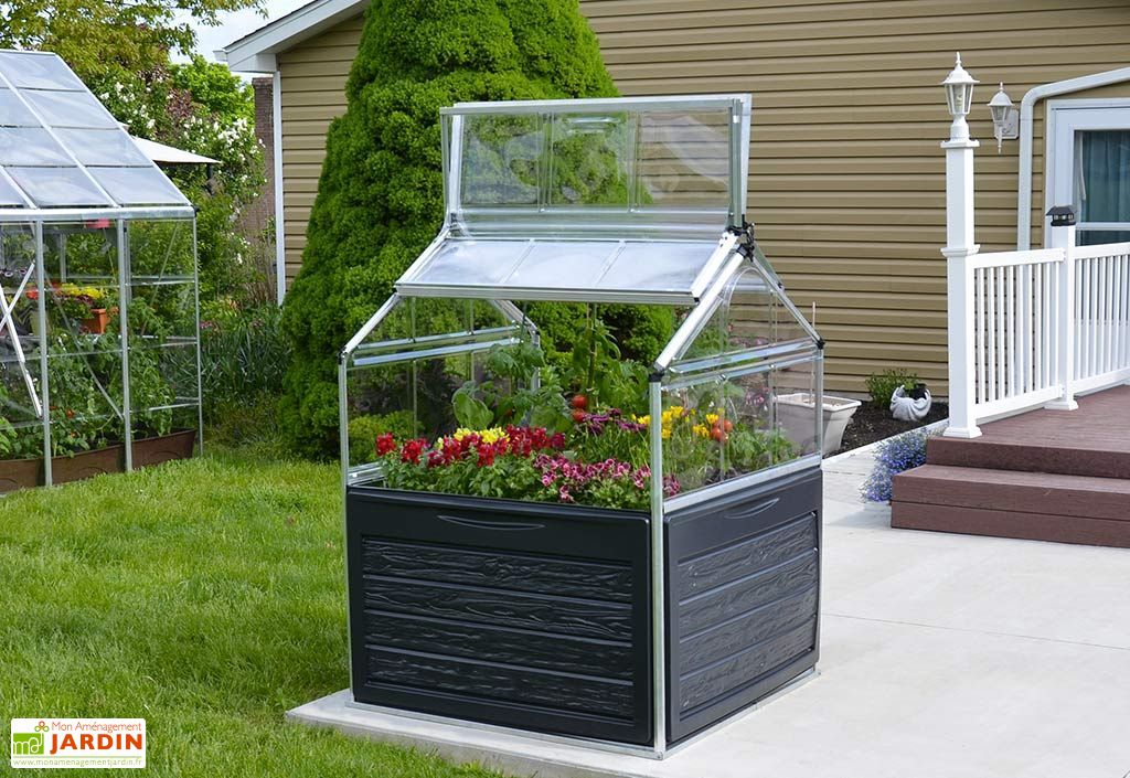Mini Serre de Jardin en Aluminium et Polycarbonate Plant Inn (118 x 118 cm)