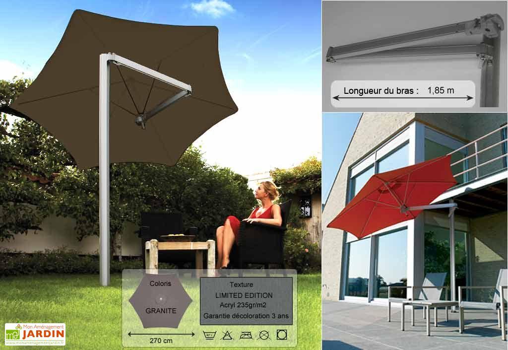 Parasol Paraflex Monoflex B185 Hexa 270 Limited Granite