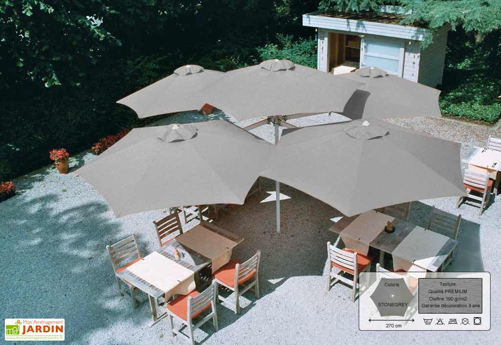 Parasol Paraflex Multiflex 4+1 B185 Hexa 270 Premium Stonegrey