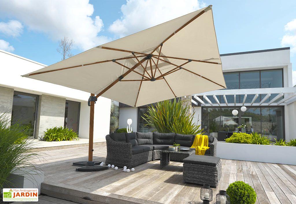Parasol Déporté en Aluminium et Polyester DCB Garden Sevilla 3 x 4 m