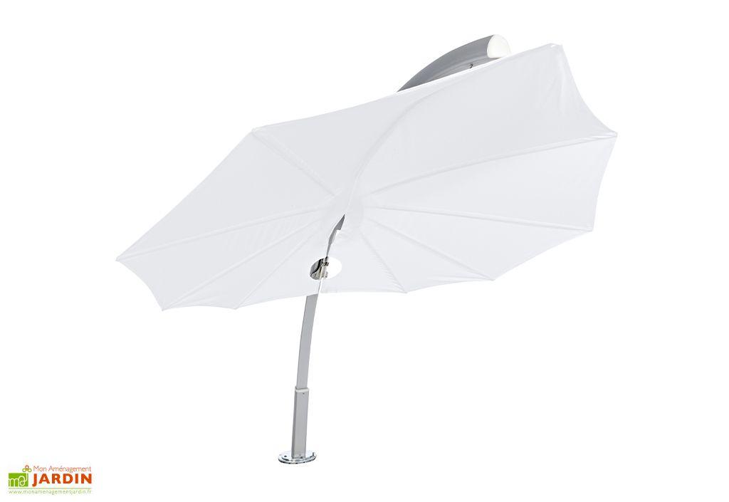Parasol design Icarus Umbrosa toile blanche 250 cm