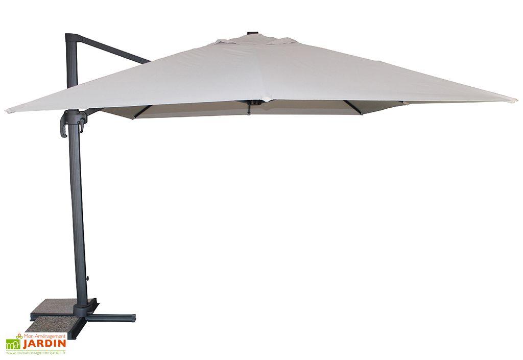 Parasol en aluminium, acier et polyester