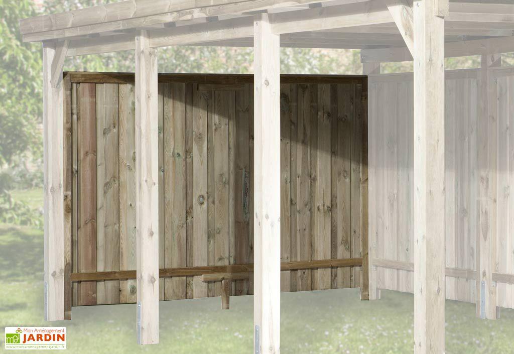 Paroi arri re pour carport bois optima 270x181 weka for Paroi bois jardin